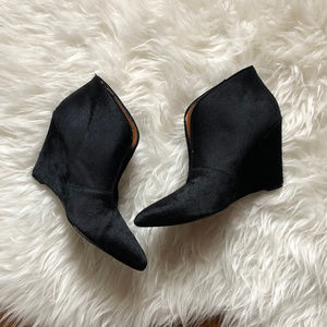 Nine West | InStyle Pony Hair V-Vamp Wedge Booties